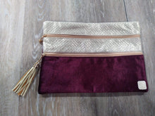 Make-up Bag Maroon Velvet/Gold The Versi Bag