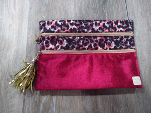 Make-up Bag Red Velvet/Print The Versi Bag