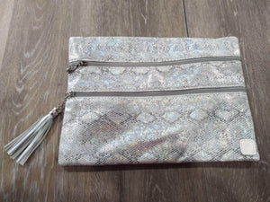 Make-up Bag Silver/Snakeskin The Versi Bag