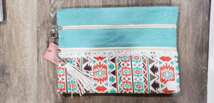 Make-up Bag Teal/Aztec The Versi Bag