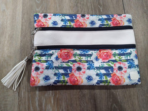 Make-up Bag White/Floral The Versi Bag