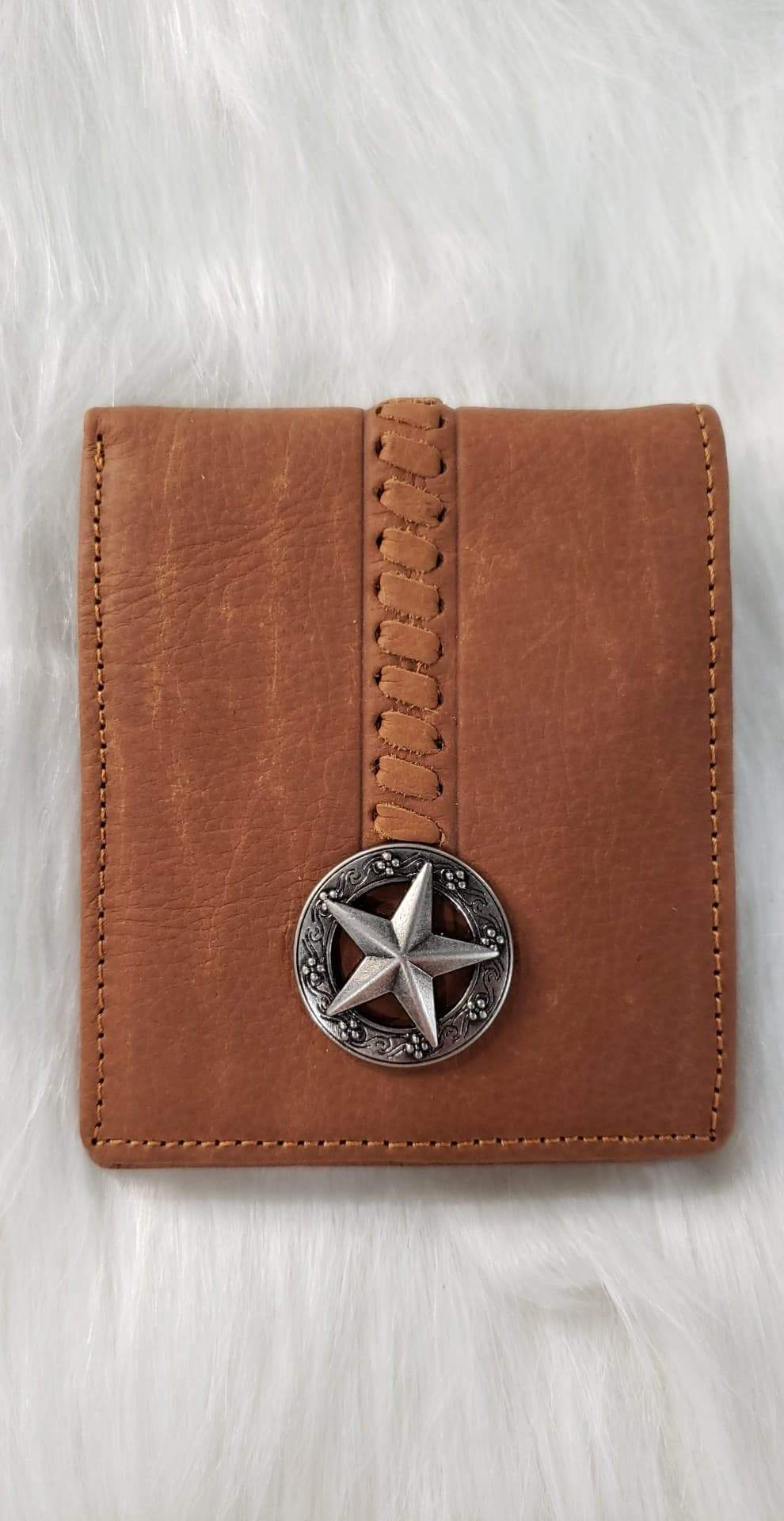Men's Men's Brown Star Bi-Fold Wallet