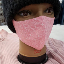 Nelly's Mask Pink Swirl Nelly's Mask (Made Locally)
