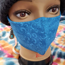 Nelly's Mask Royal Blue Paisley Nelly's Mask (Made Locally)