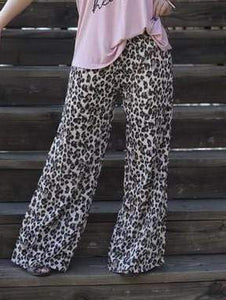 Pants Cheetah Chiffon Pants