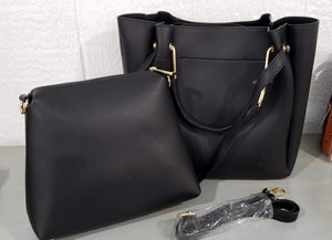 Purse Black Faux Leather Purse