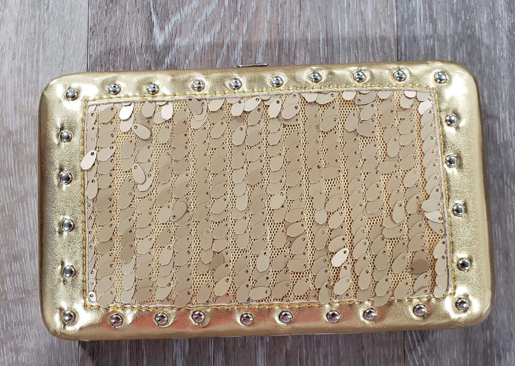 Purse Gold Sequin Wallet