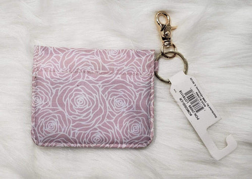Purse Pink and White Keychain Wallet