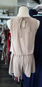 Romper Mocha Romper with Pockets