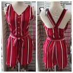 Romper Red Stripe Romper