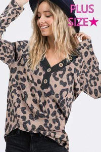 Shirt Leopard Plus Size Shirt