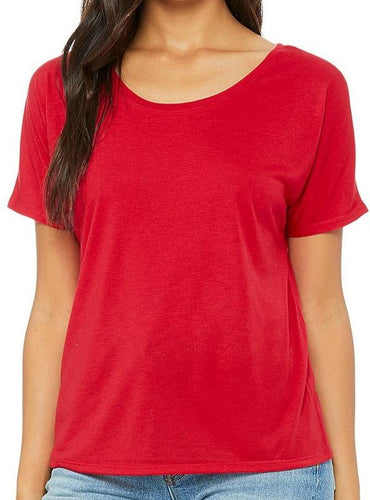 Shirt Women's Red Slouchy Tee - Plus size available - Plus size available