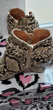 Shoes Coffee Snake Wedges