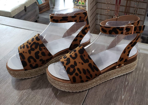 Shoes Leopard Wedge