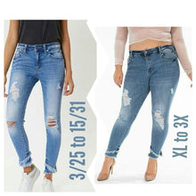 Skinny 1/24 Kancan mid Rise Ankle Skinny Restocked - Plus Size Available