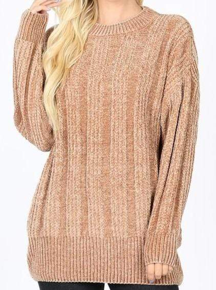 Sweater Mocha Plus Size Chenille Sweater