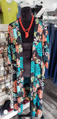 Vest One Size Floral Duster