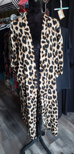 Vest One Size Leopard Duster