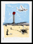 Hunter S. Thompson Memorial Print by Ralph Steadman