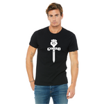 Gonzo Classic Black T-shirt with Solid White Logo
