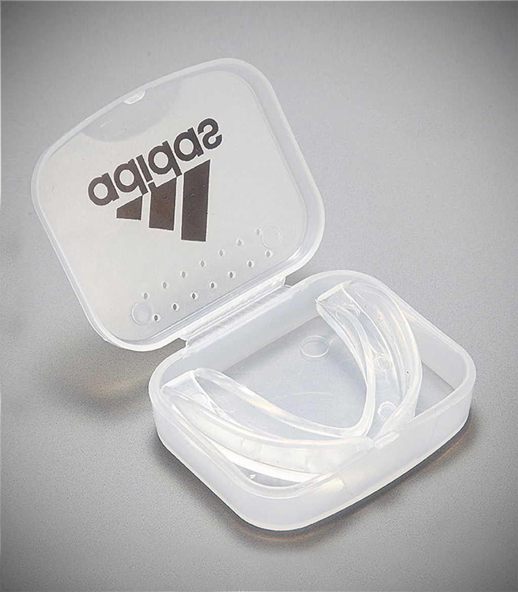 ADIDAS SINGLE MOUTH GUARD CLEAR WITH CASE