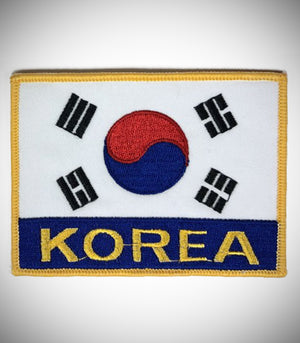 KOREA FLAG W/ LETTER SEW ON PATCH