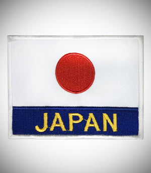 JAPAN FLAG W/ LETTER SEW ON PATCH