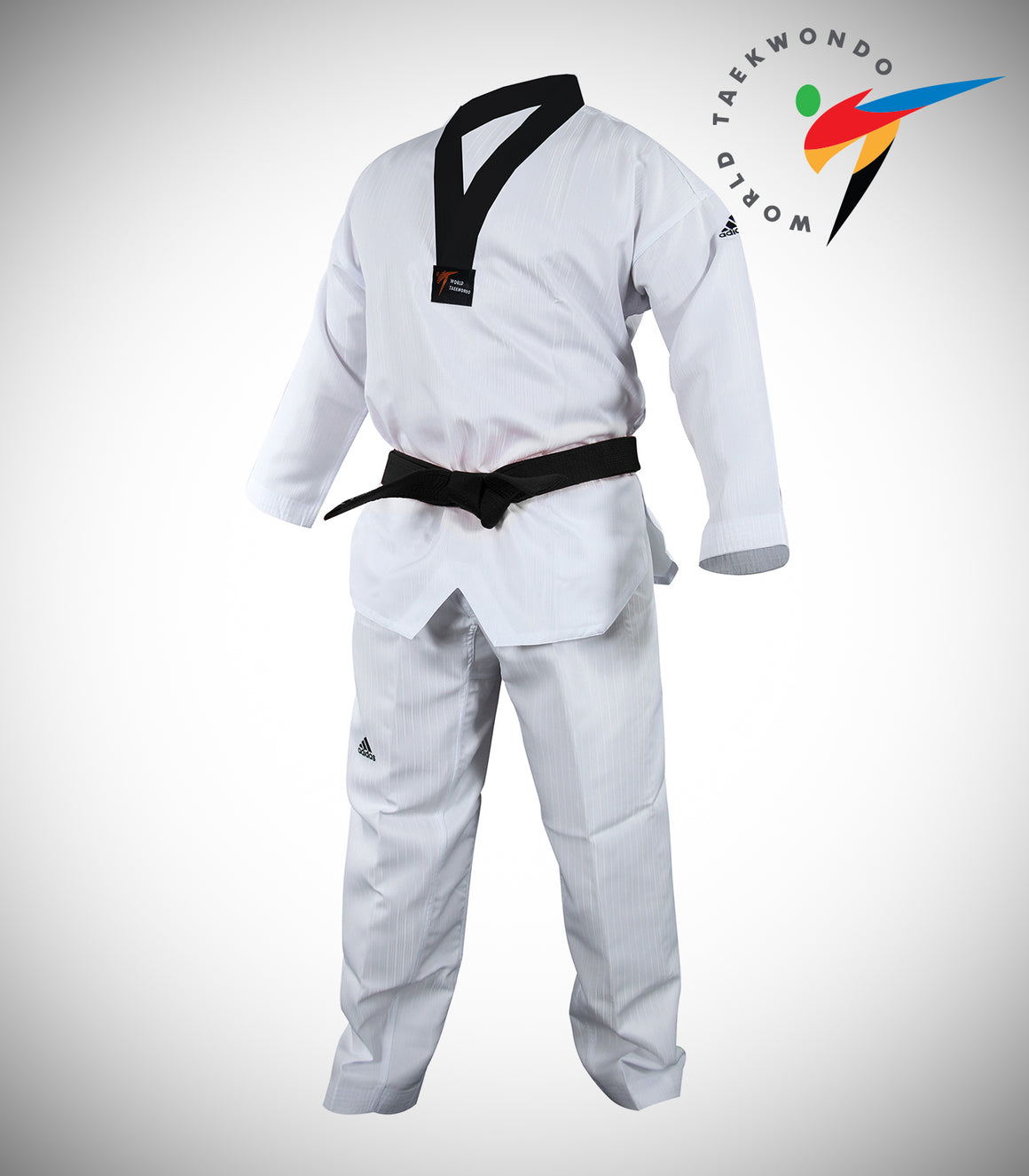 ADIDAS ADI-START-P BLACK/V TAEKWONDO UNIFORM