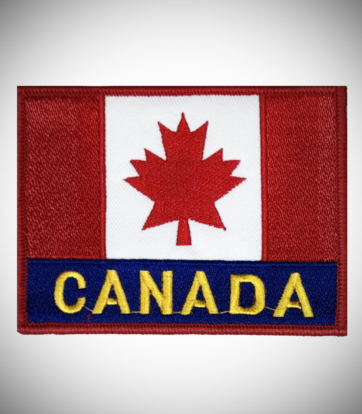 CANADA FLAG W/ LETTER SEW ON PATCH
