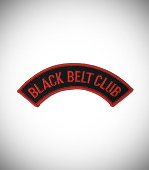 BLACK BELT CLUB CURVED SEW ON PATCH