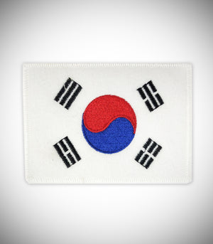 KOREA FLAG ALL WHITE SEW ON PATCH
