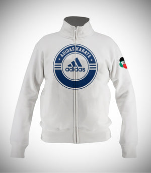 ADIDAS WKF KARATE JACKET WHITE/DARK BLUE