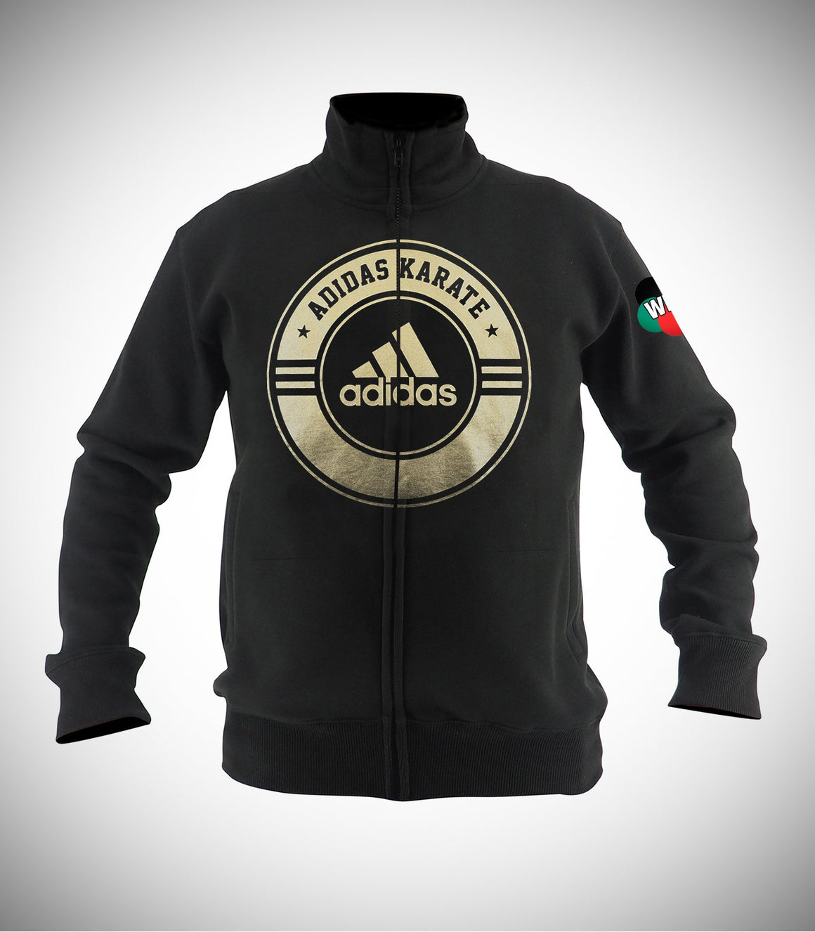 ADIDAS WKF KARATE JACKET BLACK/GOLD