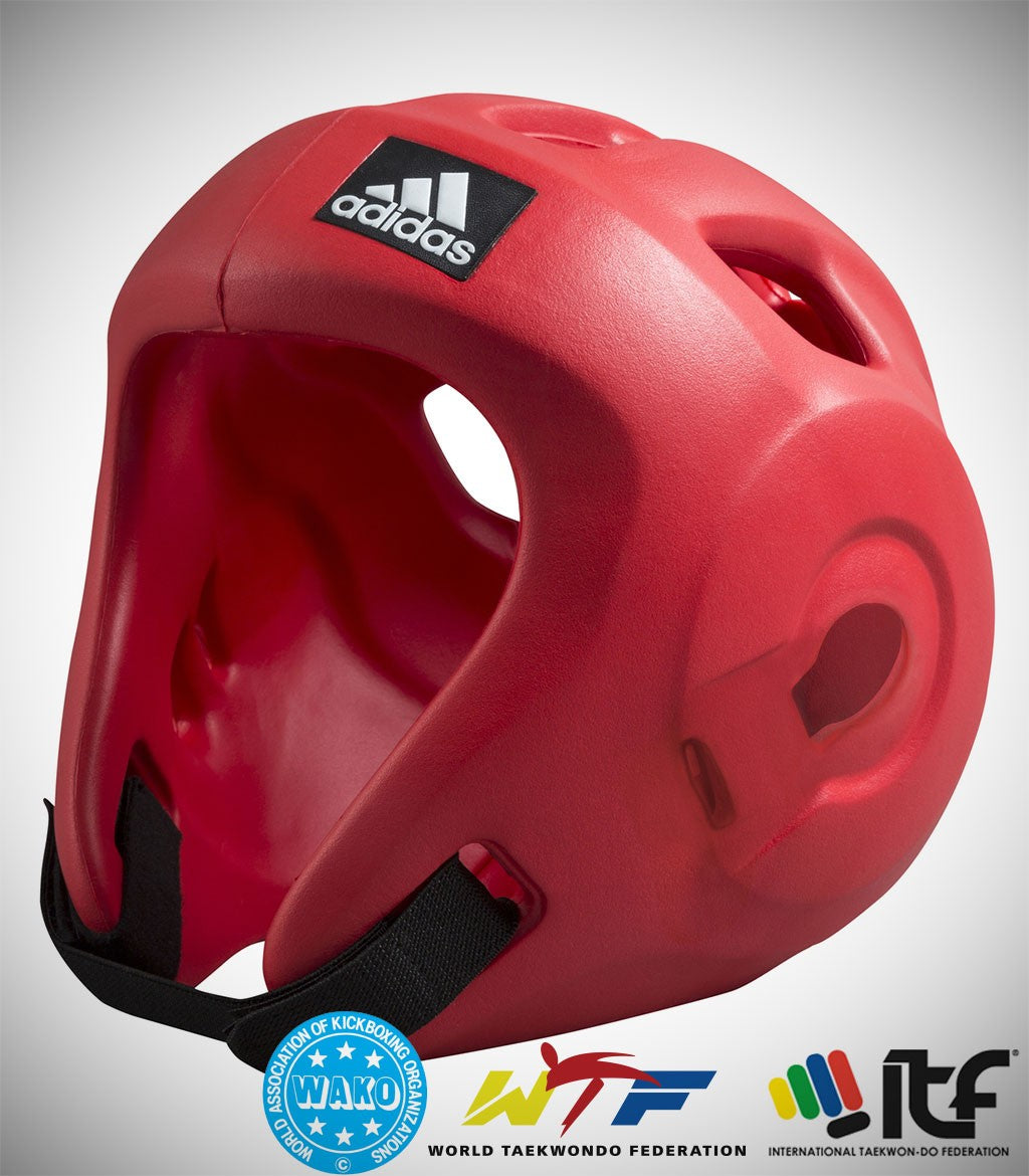 ADIDAS ADIZERO MOULDED HEAD GUARD RED