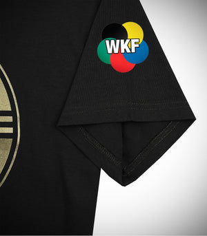 ADIDAS WKF KARATE T-SHIRT BLACK/GOLD