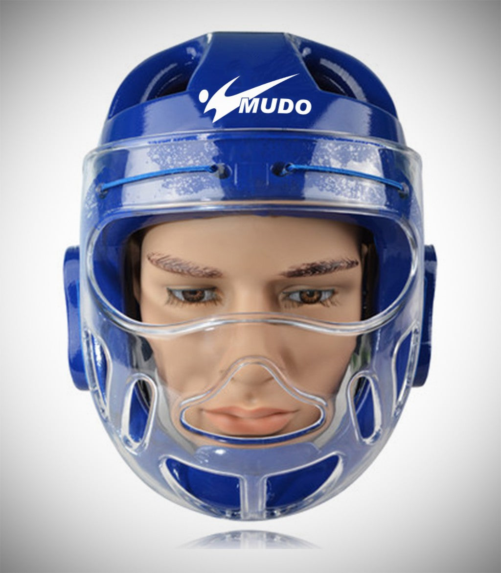 MUDO HEADGEAR CLEAR FACE SHIELD BLUE