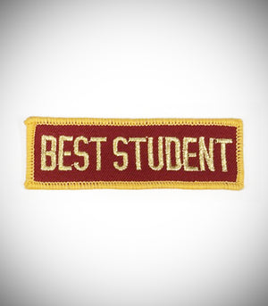 BEST STUDENT SEW ON PATCH