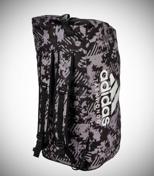 "ADIDAS 2IN1 BAG ""TAEKWONDO"" NYLON BLACK/CAMO SILVER"