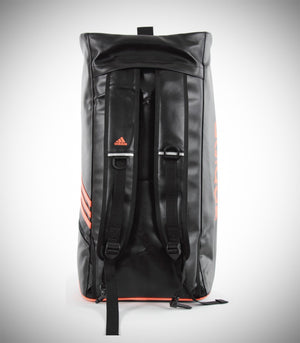 ADIDAS TRAINING 2 IN 1 BAG BJJ FABERIC BLACK SOLAR BLUE