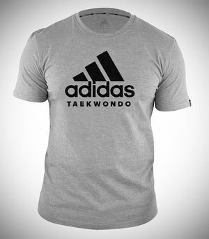 ADIDAS TAEKWONDO T-SHIRT GREY BLACK