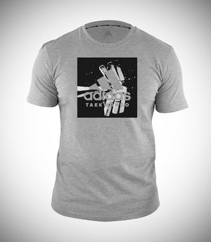 ADIDAS TAEKWONDO T-SHIRT HEATHER GREY