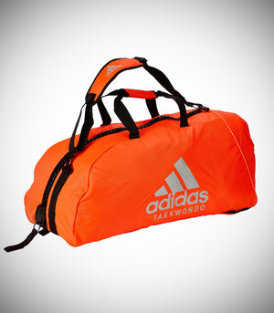 "ADIDAS SPORTS BAG ""TAEKWONDO"" NYLON SOLAR RED/SILVER"