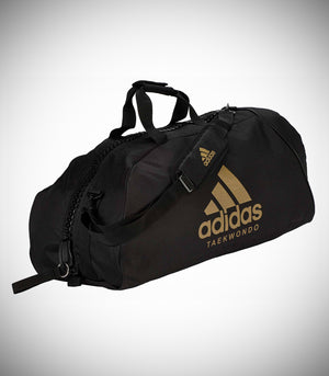 "ADIDAS 2IN1 BAG ""TAEKWONDO"" NYLON BLACK/GOLD"