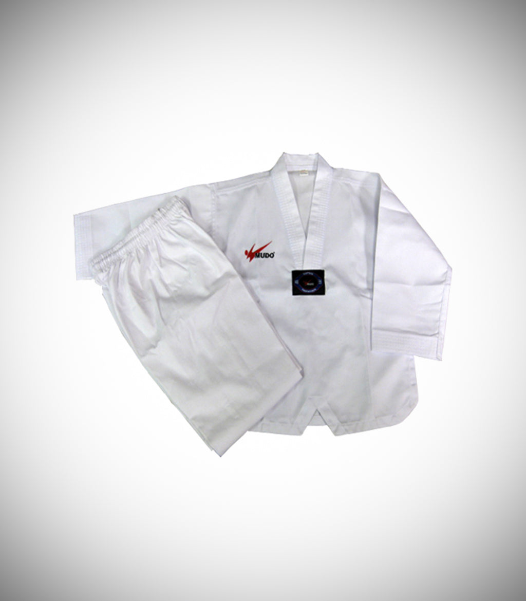 MUDO WHITE-V NECK UNIFORM