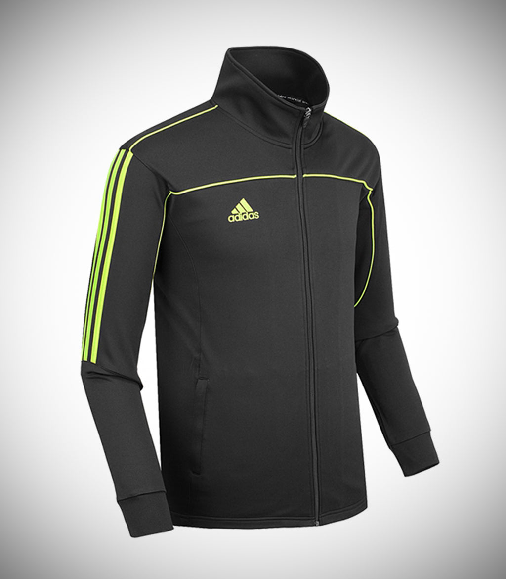 ADIDAS KNITTED TEAM JACKET BLACK/LIME