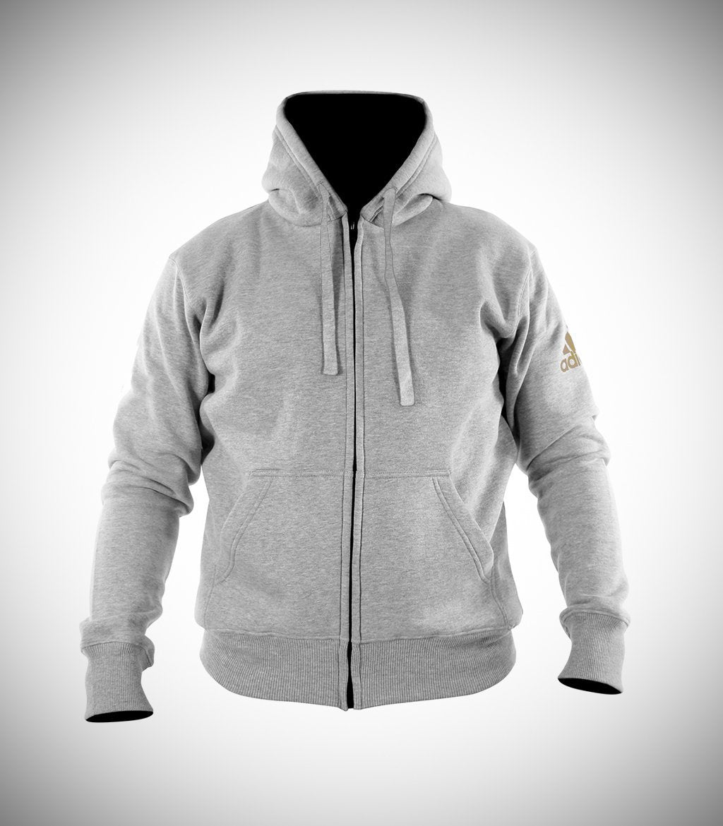 ADIDAS COMMUNITY HOOD JACKET HEATHER GREY