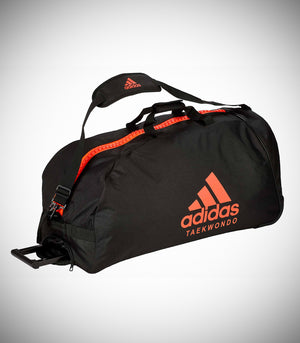 "ADIDAS TROLLEY ""TAEKWONDO"" NYLON BLACK/SOLAR RED"