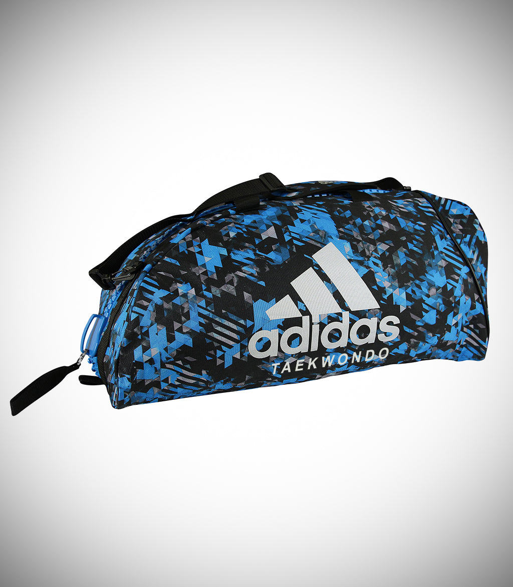 "ADIDAS 2IN1 BAG ""TAEKWONDO"" NYLON BLUE/CAMO SILVER"