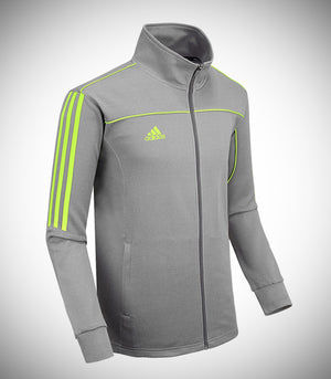ADIDAS KNITTED TEAM JACKET GREY/LIME