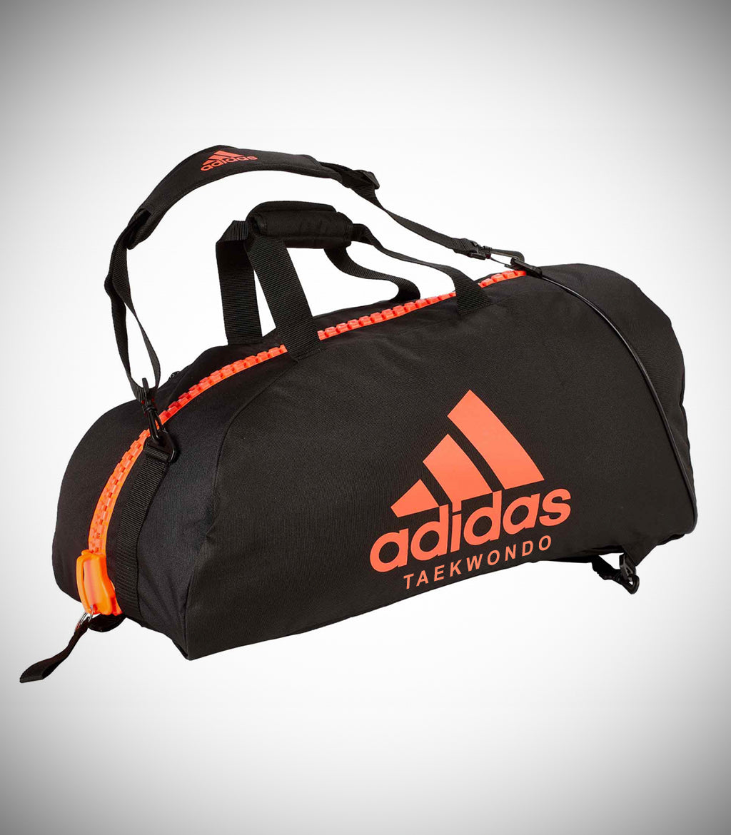 "ADIDAS SPORTS BAG ""TAEKWONDO"" NYLON BLACK/SOLAR RED"